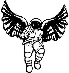 Astronaut Angel vector image vector image