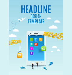 Construction smartphone software mobile app vector image vector image