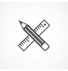 Design tools icon vector image vector image