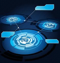 fantasy circle charts vector image