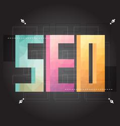 Flat design modern concept of seo word vector