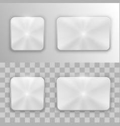 set of metal buttons vector image