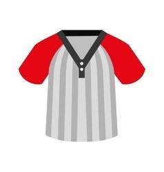 shirt baseball icon isolated vector image