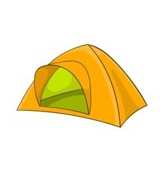 Yellow tent icon cartoon style vector image