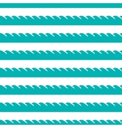 aqua green waves seamless pattern vector image