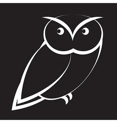 Cartoon owl vector image vector image