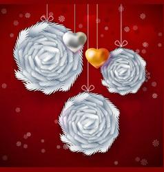 Christmas paper art card vector