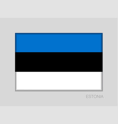flag of estonia national ensign aspect ratio 2 to vector image