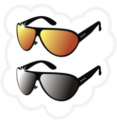 pair of mirrors sun glasses vector image vector image