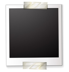 A polaroid attached to a piece paper vector