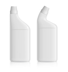 A set of realistic white plastic bottles for gel vector
