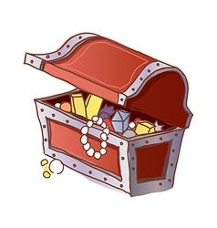 A treasure chest is open vector image