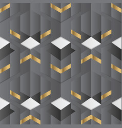 abstract geometric decor stripes black and golden vector image