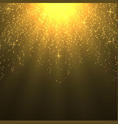background with warm sun rays light effect vector image