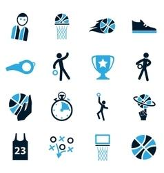 Basketball Icon set vector