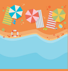 Beach flat design background vector