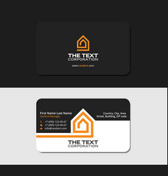 Black business card road house yellow color vector