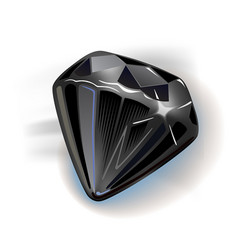 Black diamond vector