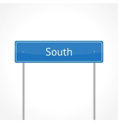blue south traffic sign vector image