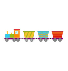 bright toy train vector image