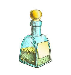 bubbled potion liquid bottle color vector image