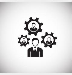 businessman staff management on white background vector image