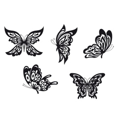 Butterfly tattoos vector