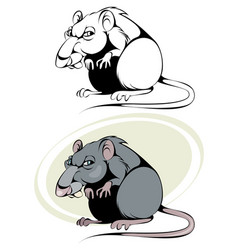 Cartoon rat on white vector