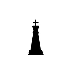 chess king icon element of chess for mobile vector image