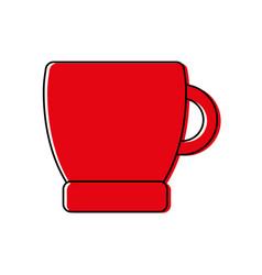 color coffee cup drink beverage icon vector image