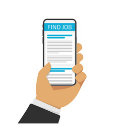 concept job searching vector image