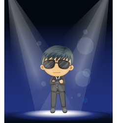Cool guy stage performance vector