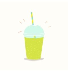 Cup to go with green smoothie vector image
