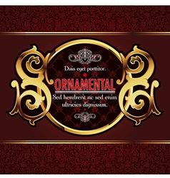 decorative ornamental background vector image