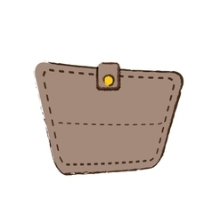 Drawing wallet save money icon vector