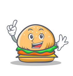 Finger burger character fast food vector