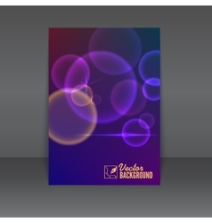Flyer or poster design template vector image