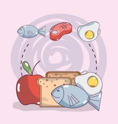 Food ingredients cartoons vector