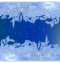 Frozen frost on window vector