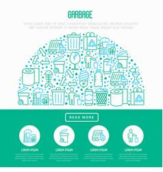 garbage concept in half circle vector image