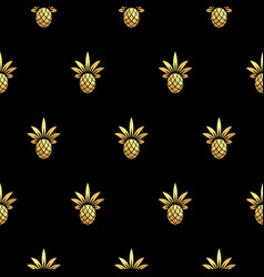 gold pineapple royal seamless pattern on vector image