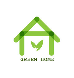 Green home eco concept icon vector
