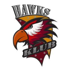 Hawks Klub logo vector image