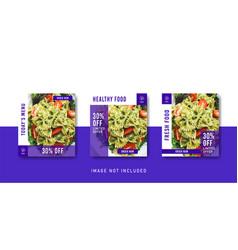 Healthy food social media instagram post template vector