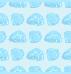 ice caps snowdrifts icicles seamless pattern vector image