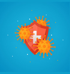 Immune system icon in cartoon style vector