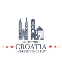 Independence Day Croatia vector image