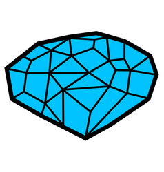 isolated gemstone vector image
