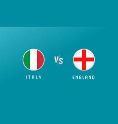 italy vs england flag round emblem vector image