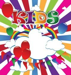 kids 5 vector image